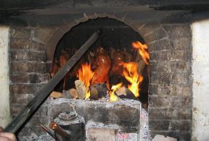 Traditional Oven Roasting a duck at Liqun KaoYa Dian